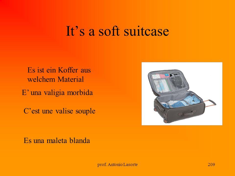 It's a soft suitcase Es ist ein Koffer aus welchem Material