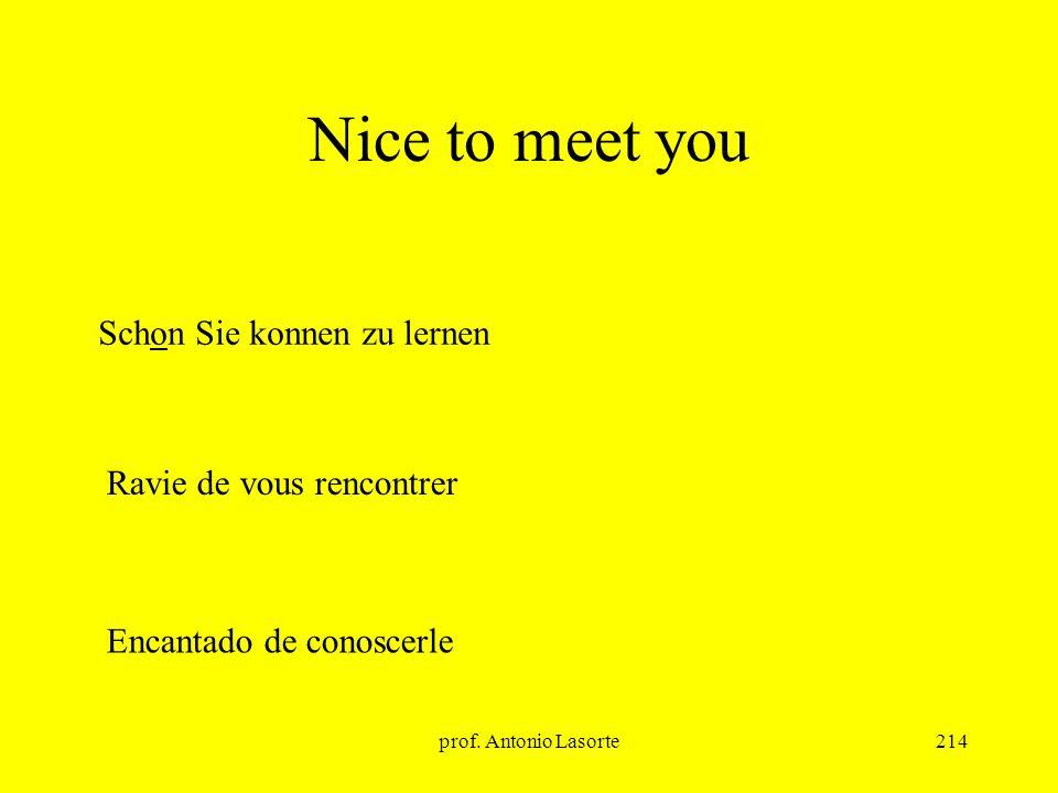 Nice to meet you Schon Sie konnen zu lernen Ravie de vous rencontrer