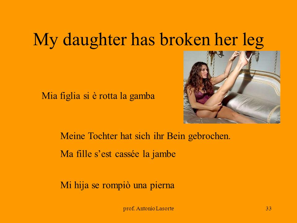 My daughter has broken her leg