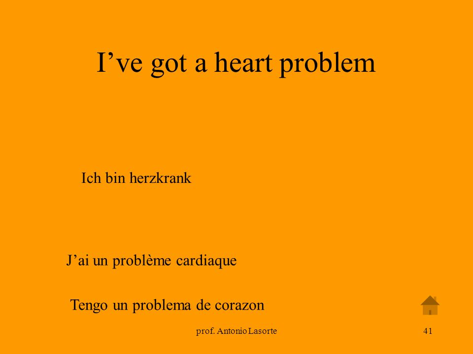 I've got a heart problem