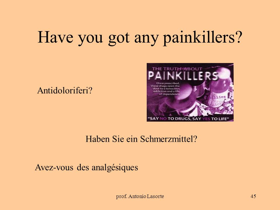 Have you got any painkillers