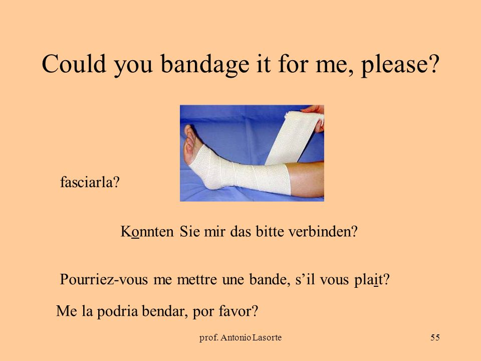 Could you bandage it for me, please