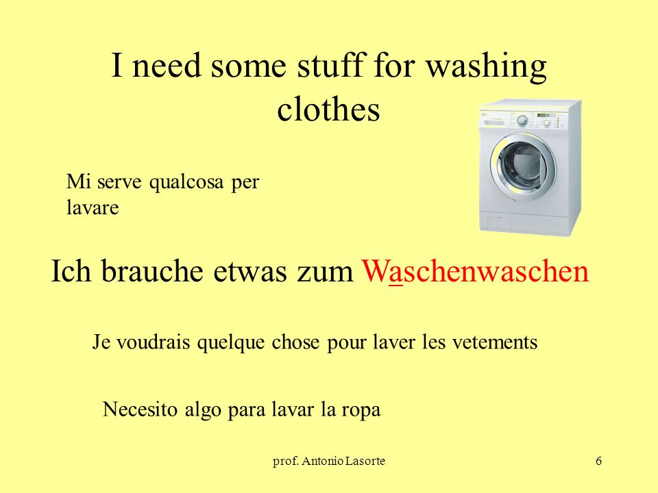 I need some stuff for washing clothes