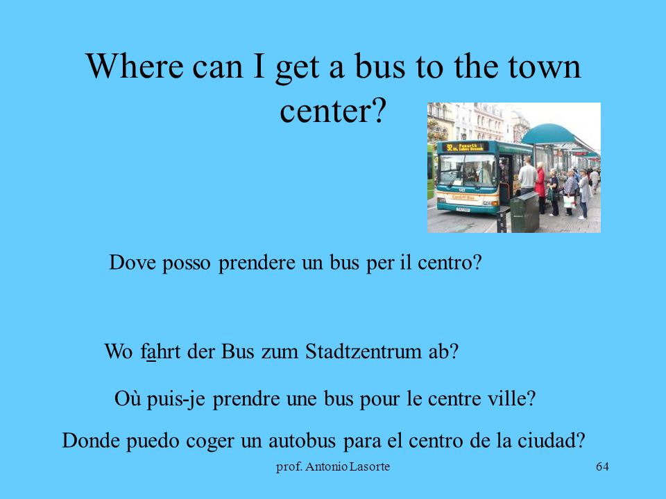 Where can I get a bus to the town center