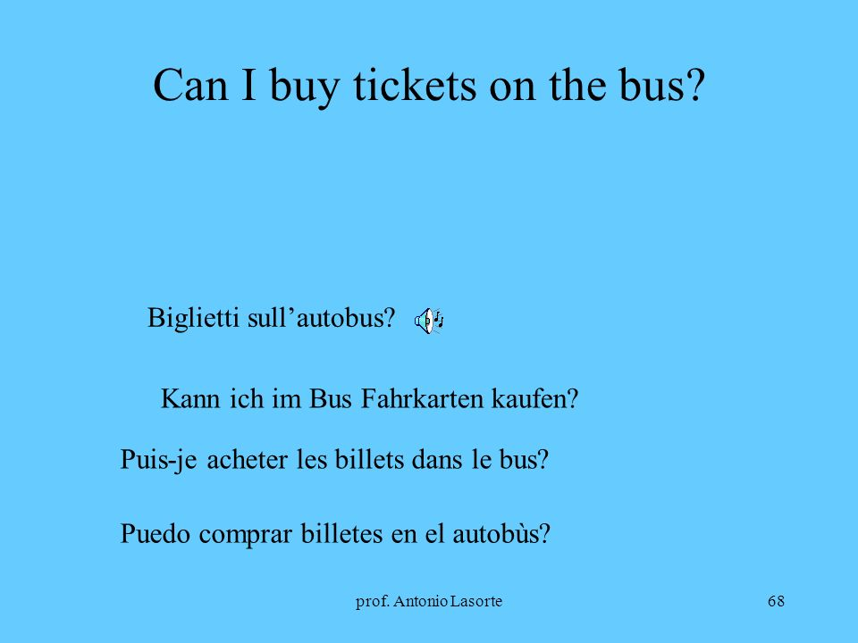 Can I buy tickets on the bus
