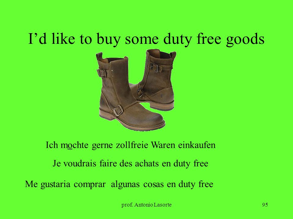 I'd like to buy some duty free goods