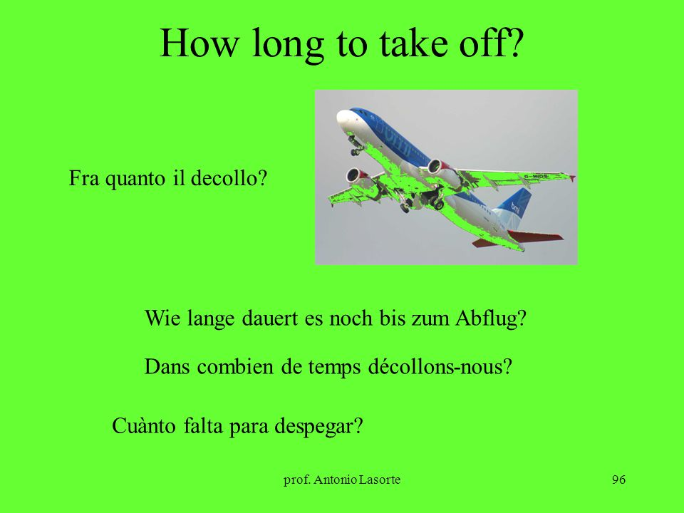 How long to take off Fra quanto il decollo