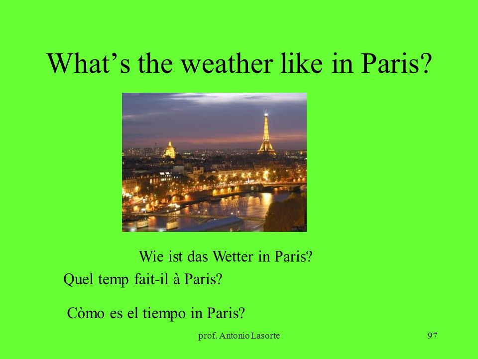 What's the weather like in Paris