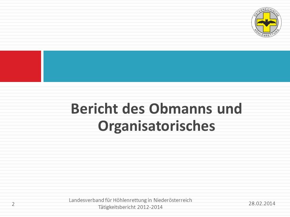Bericht des Obmanns und Organisatorisches