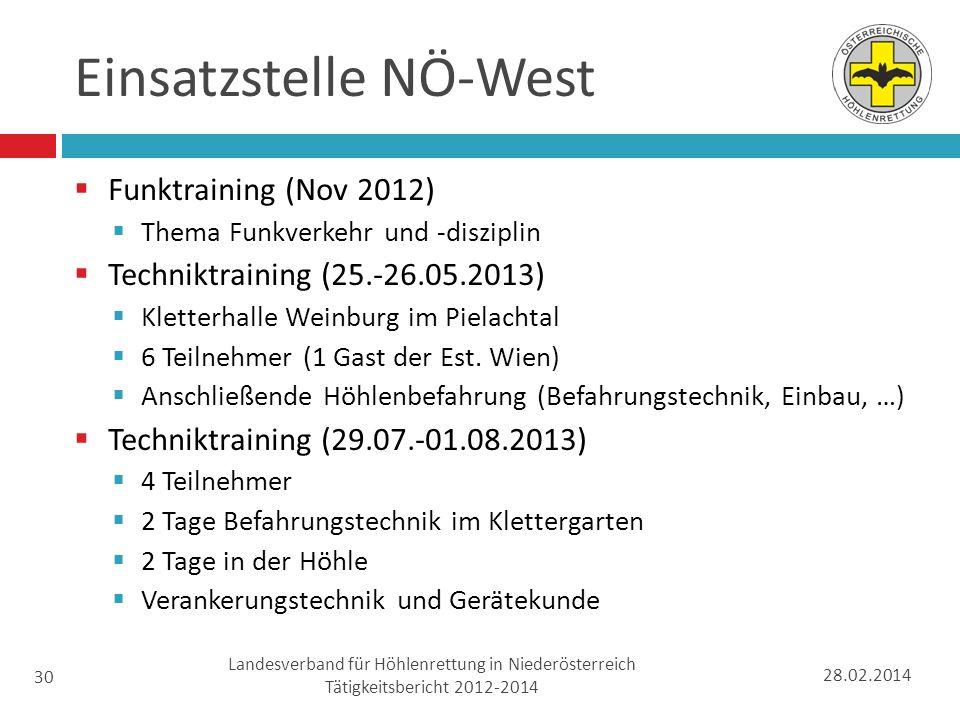 Einsatzstelle NÖ-West