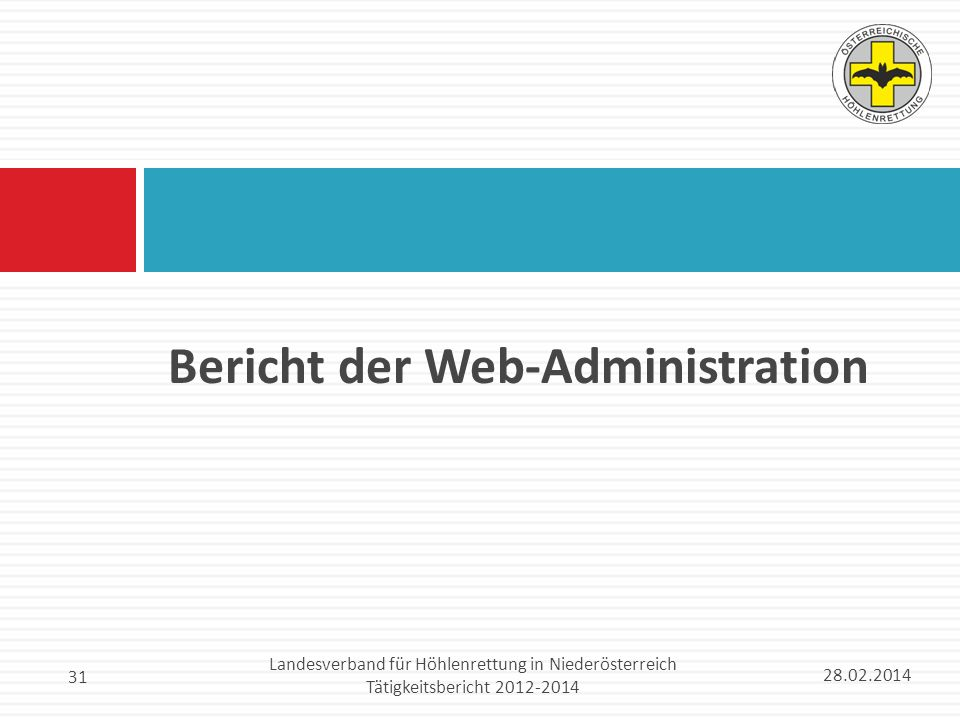 Bericht der Web-Administration