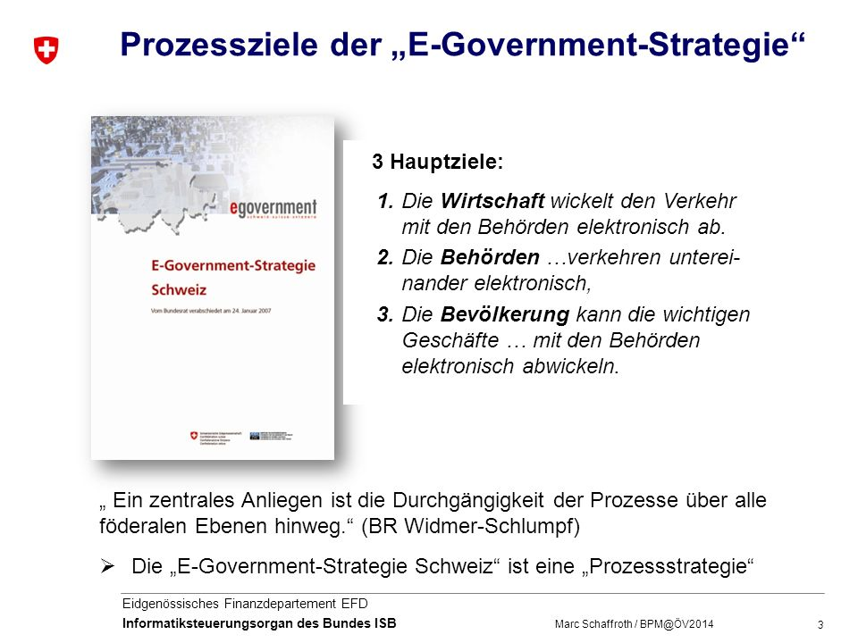 "Prozessziele der ""E-Government-Strategie"
