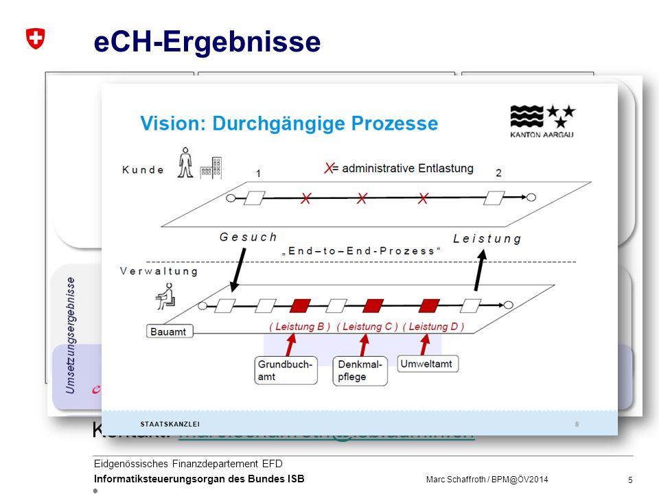 """eCH-Ergebnisse prozessorientierte Vision von E-Government CH. Rahmenkonzept """"Vernetzte Verwaltung Schweiz"""