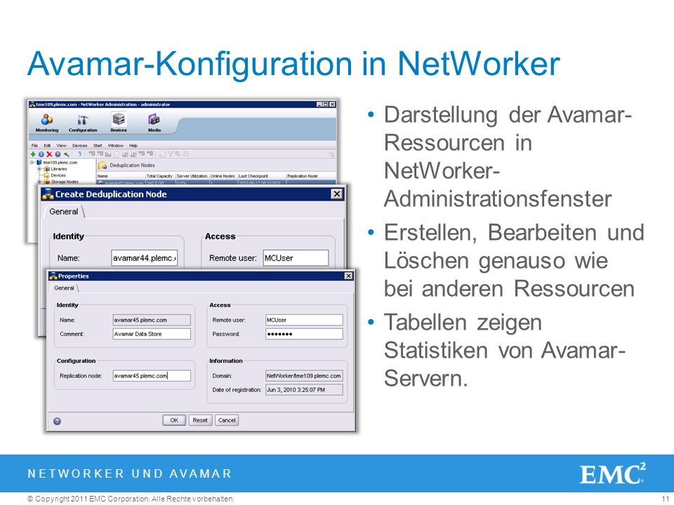 Avamar-Konfiguration in NetWorker