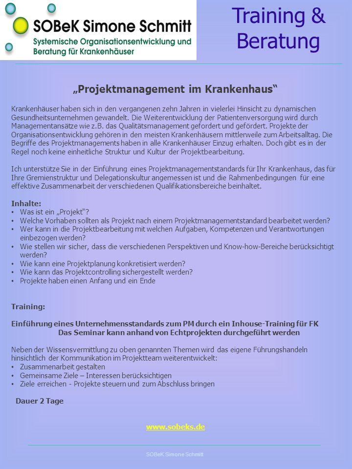 """Projektmanagement im Krankenhaus"