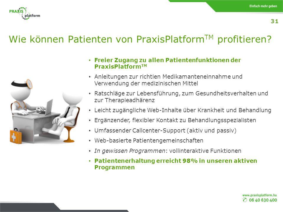 Wie können Patienten von PraxisPlatformTM profitieren