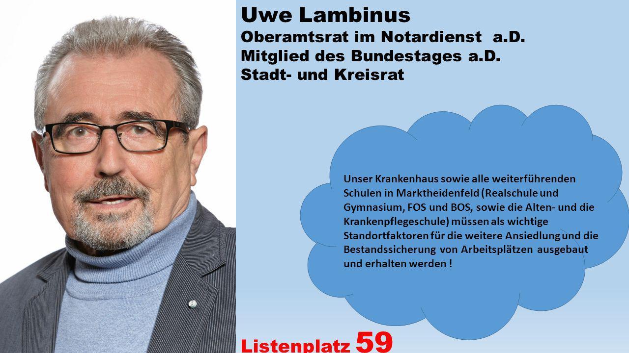 Uwe Lambinus Listenplatz 59 Oberamtsrat im Notardienst a.D.