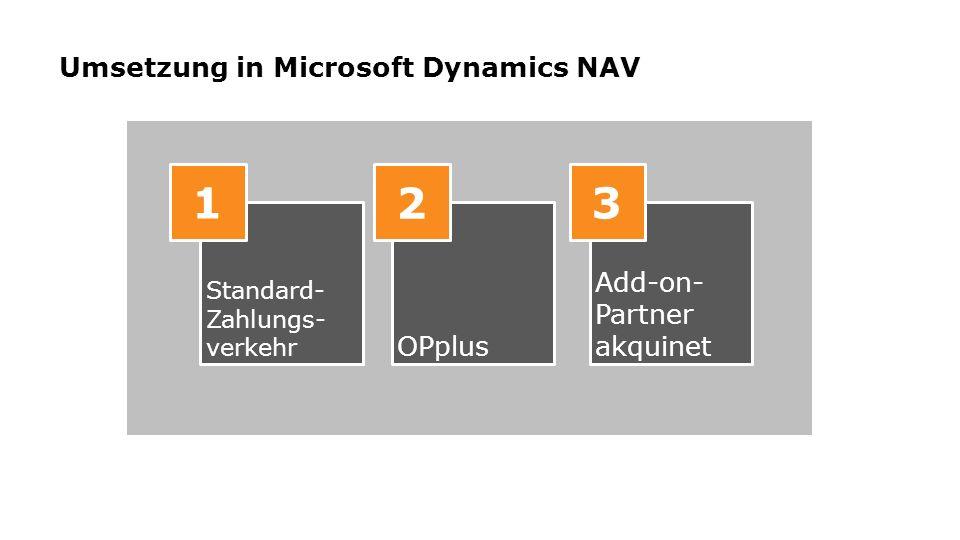 Umsetzung in Microsoft Dynamics NAV