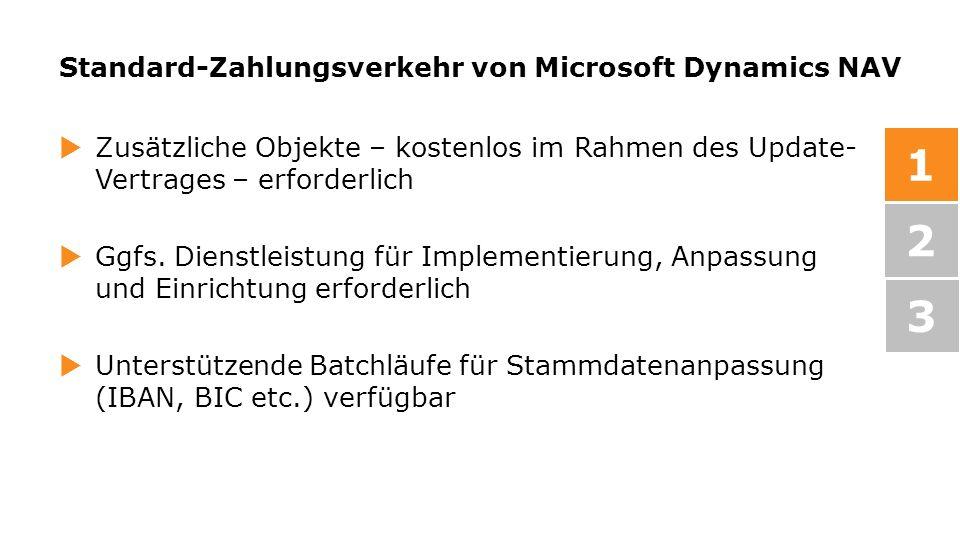 Standard-Zahlungsverkehr von Microsoft Dynamics NAV