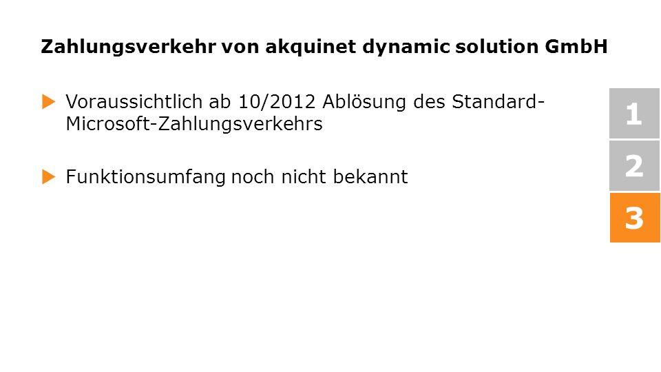 Zahlungsverkehr von akquinet dynamic solution GmbH
