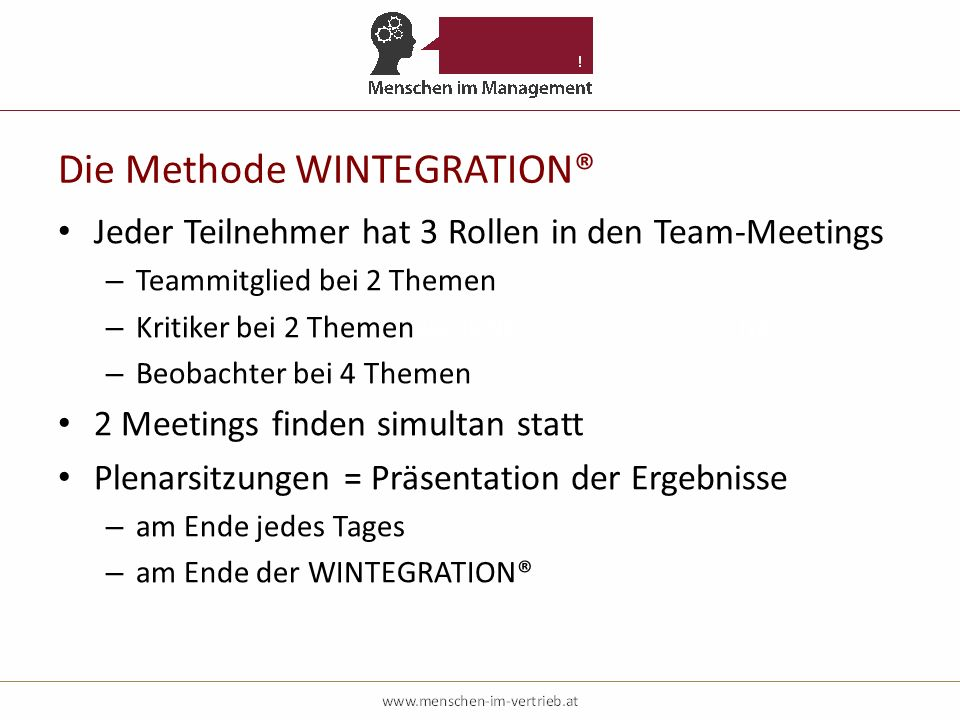 Die Methode WINTEGRATION®