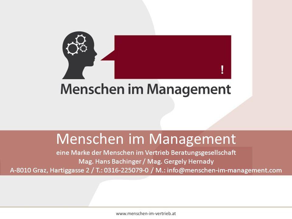 Menschen im Management eine Marke der Menschen im Vertrieb Beratungsgesellschaft Mag.