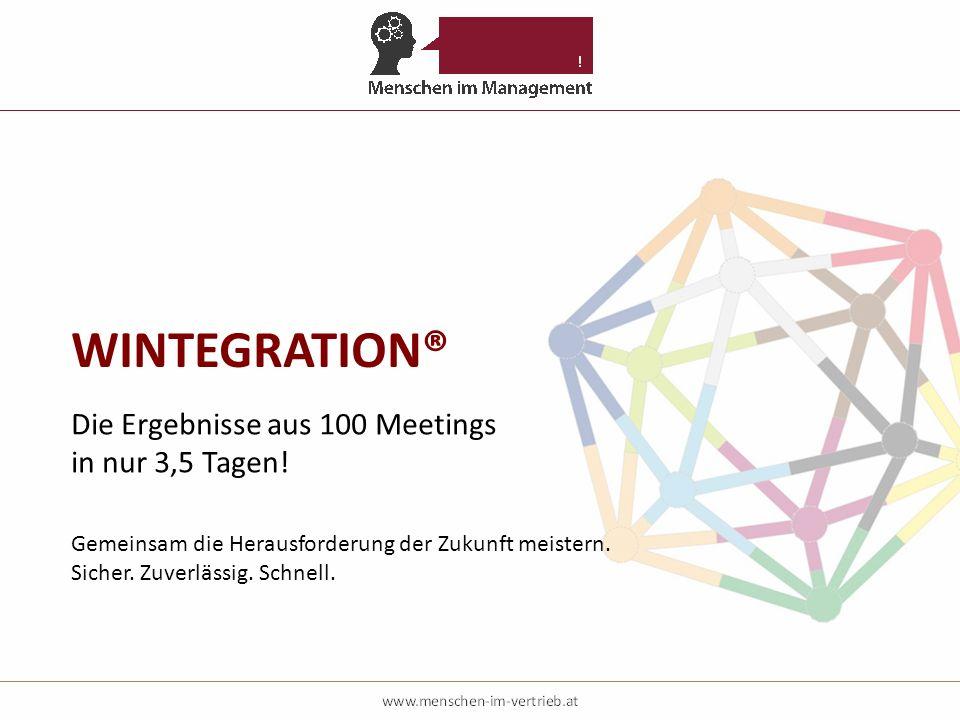 WINTEGRATION® Die Ergebnisse aus 100 Meetings in nur 3,5 Tagen!