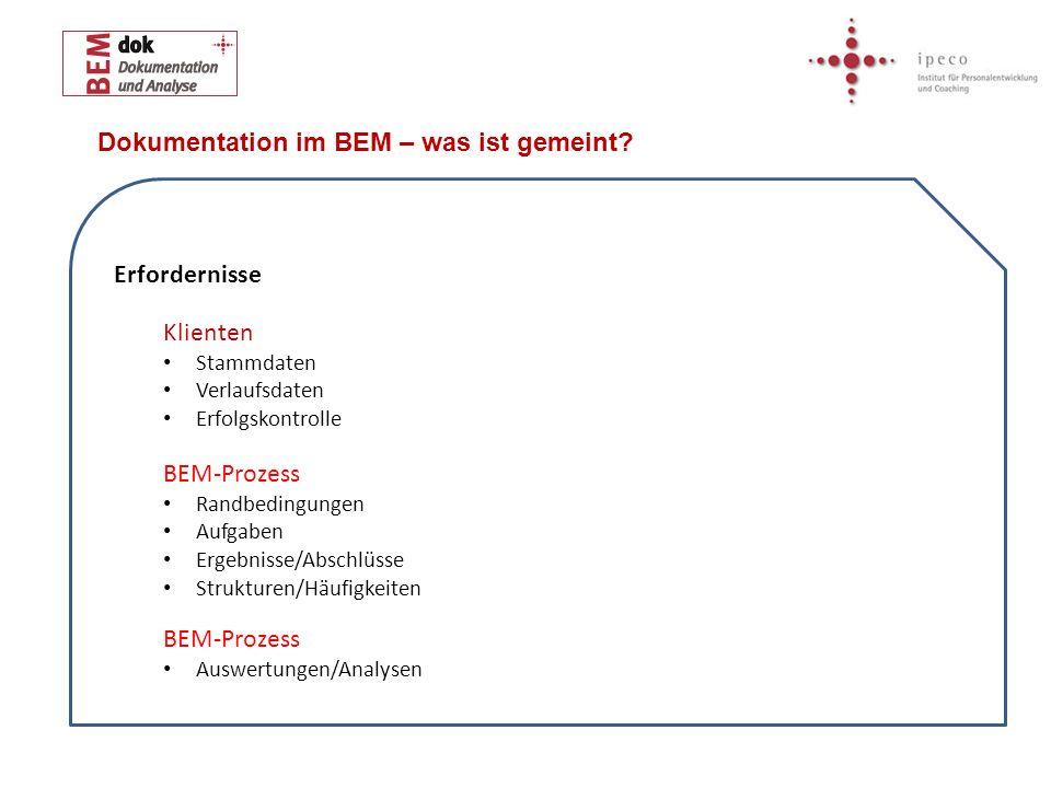 Dokumentation im BEM – was ist gemeint
