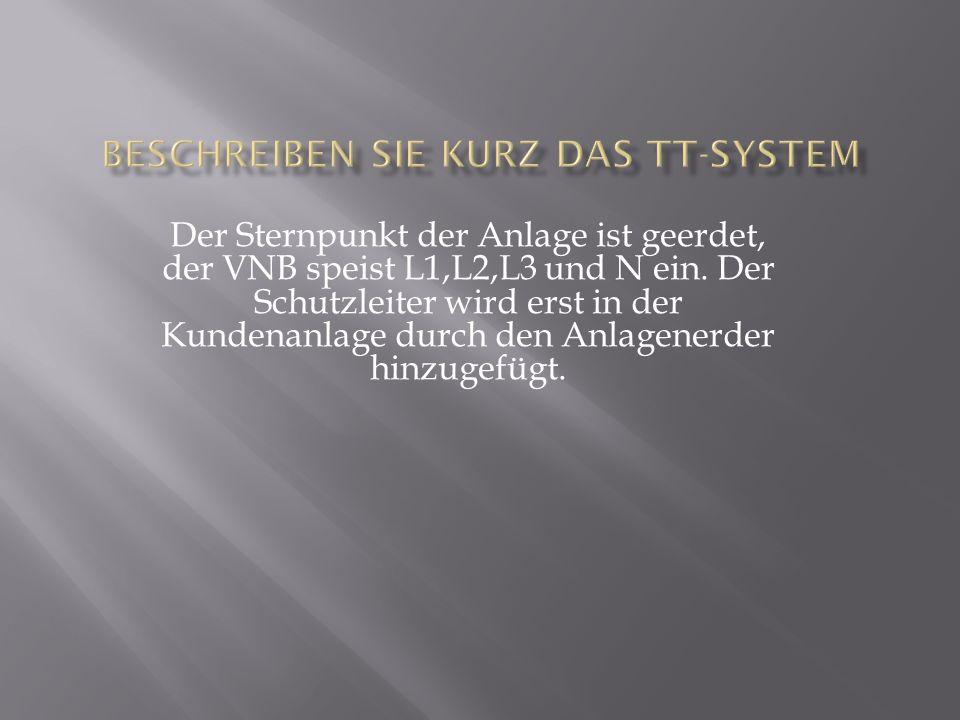 Beschreiben Sie kurz das TT-System