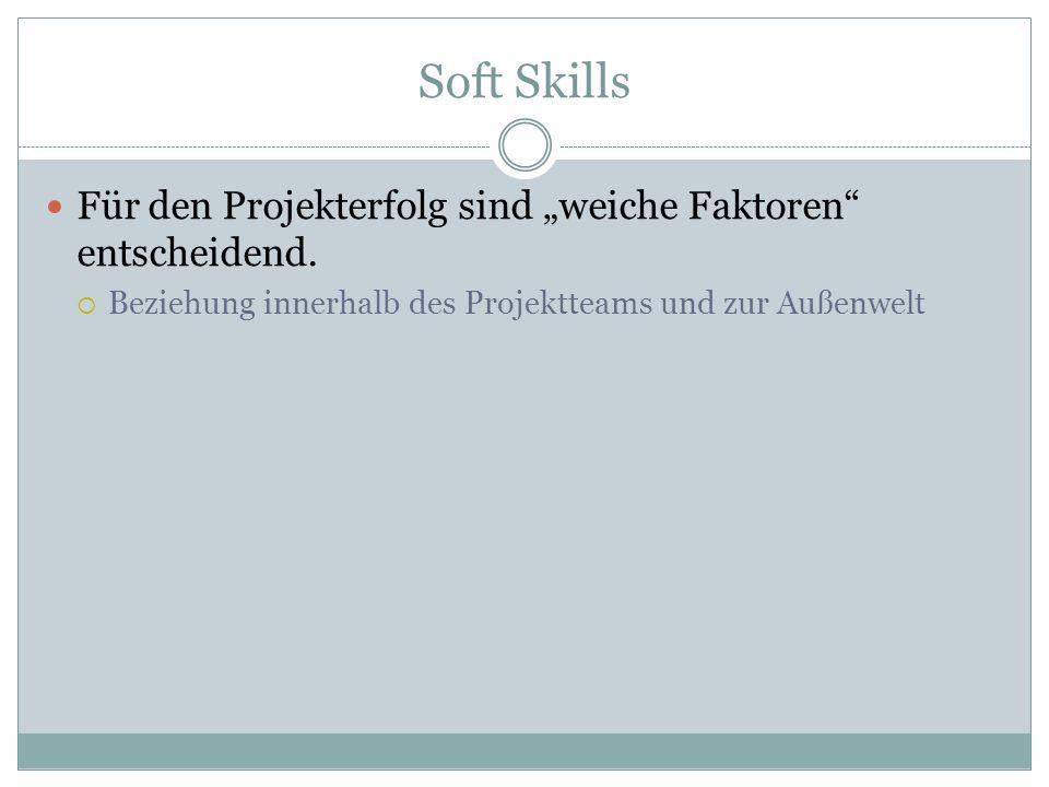 """Soft Skills Für den Projekterfolg sind """"weiche Faktoren entscheidend."""