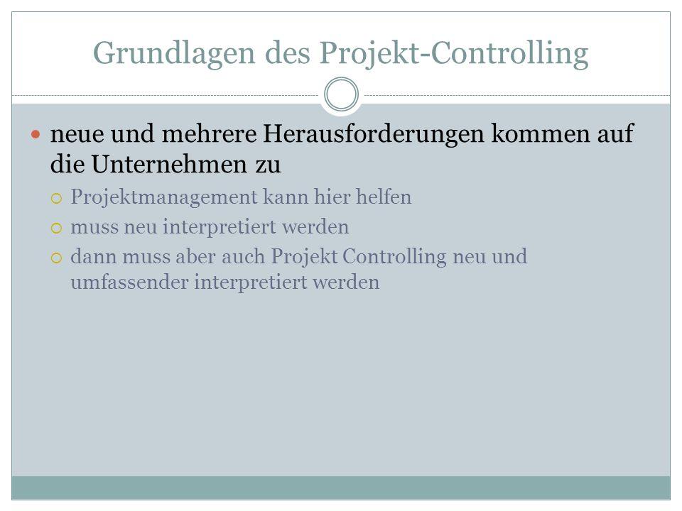 Grundlagen des Projekt-Controlling