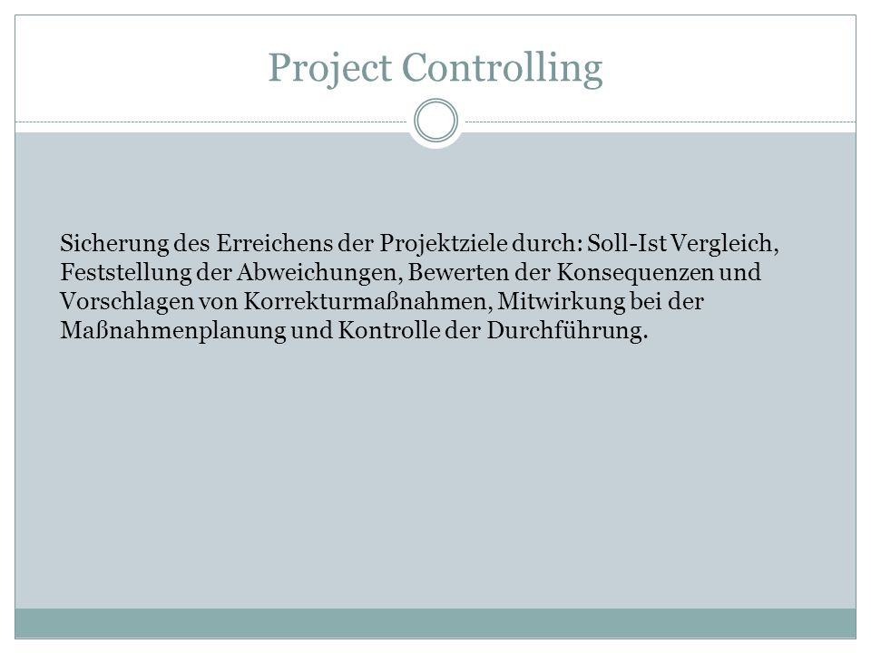 Project Controlling
