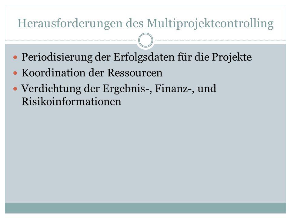 Herausforderungen des Multiprojektcontrolling