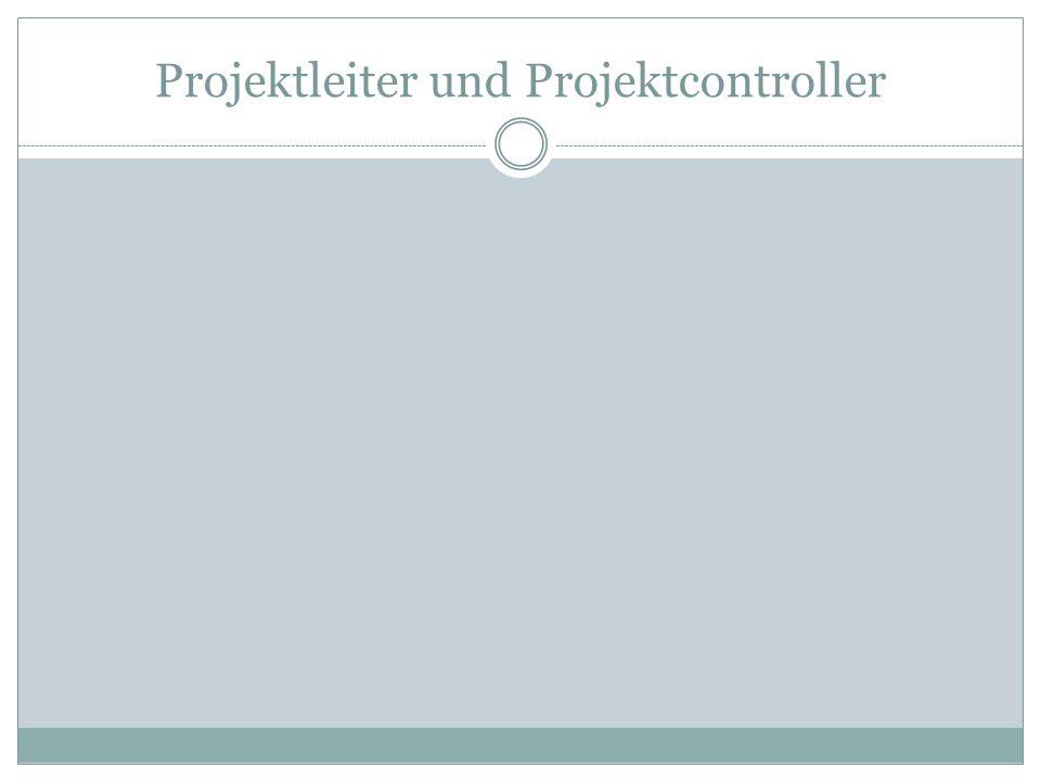 Projektleiter und Projektcontroller