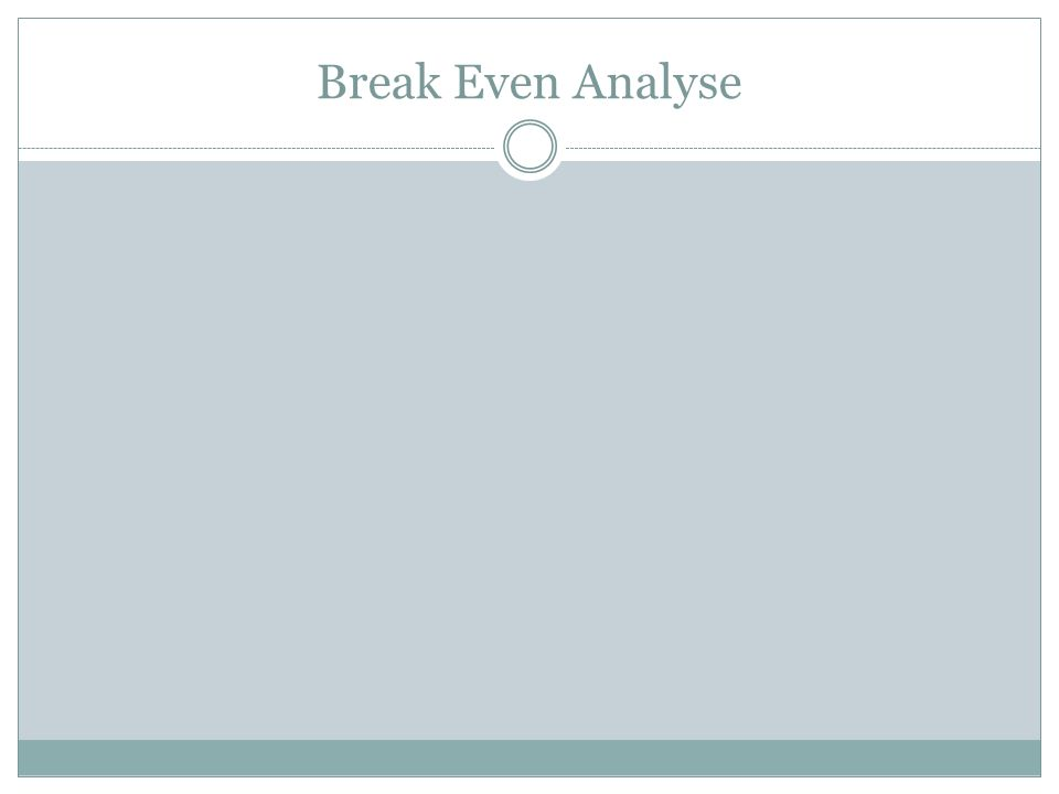 Break Even Analyse Abb 27.