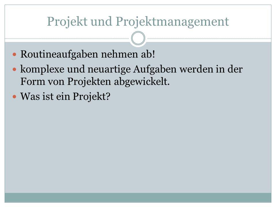 Projekt und Projektmanagement