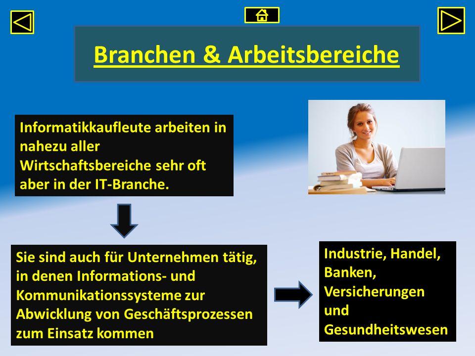 Branchen & Arbeitsbereiche