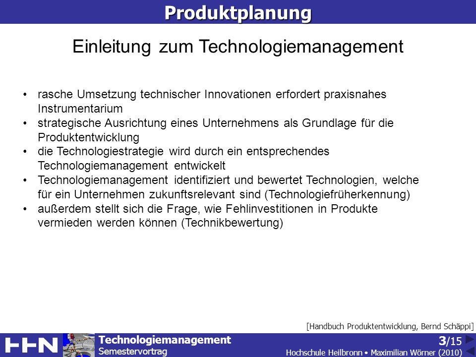 Einleitung zum Technologiemanagement