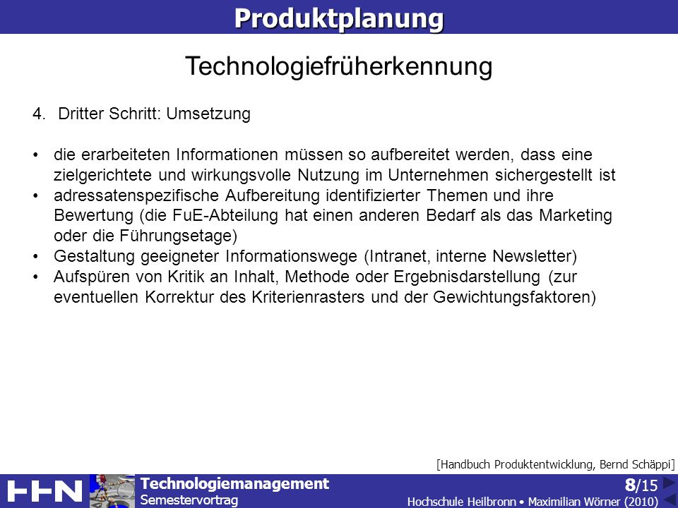 Technologiefrüherkennung
