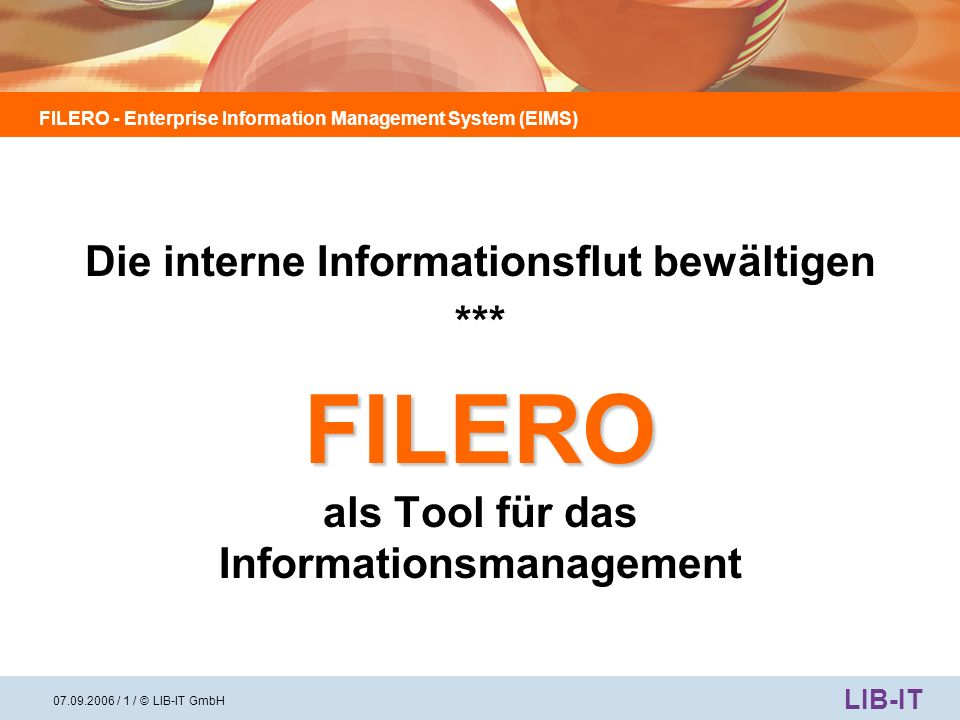 FILERO als Tool für das Informationsmanagement