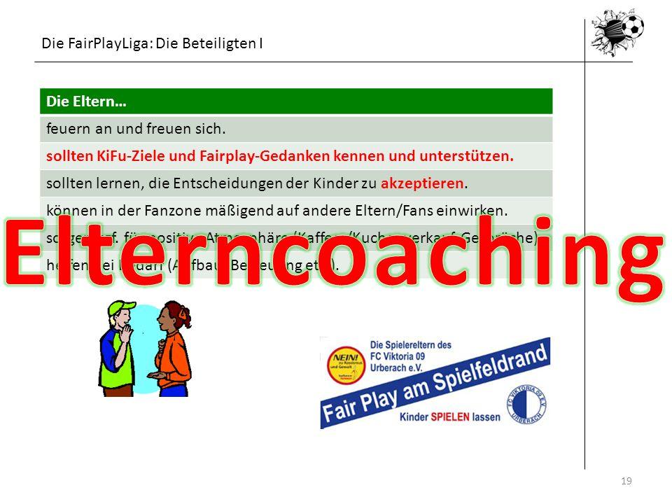 Elterncoaching Die FairPlayLiga: Die Beteiligten I Die Eltern…
