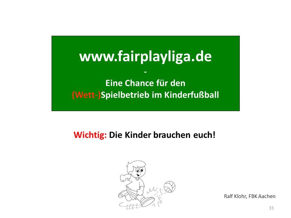 www.fairplayliga.de - Eine Chance für den