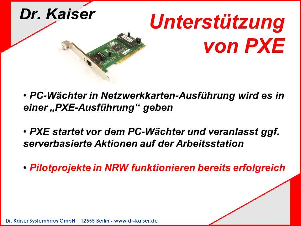 """Unterstützung von PXE PC-Wächter in Netzwerkkarten-Ausführung wird es in einer """"PXE-Ausführung geben."""