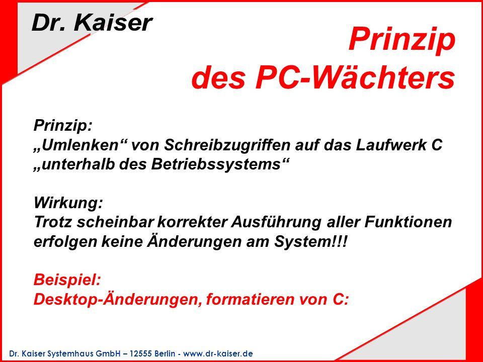 Prinzip des PC-Wächters