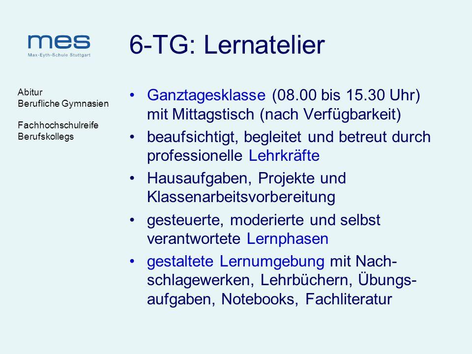 6-TG: Lernatelier Abitur. Berufliche Gymnasien. Fachhochschulreife. Berufskollegs.