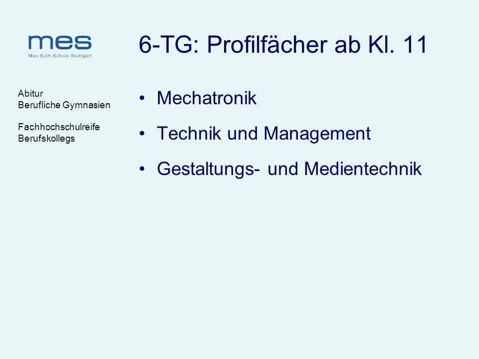 6-TG: Profilfächer ab Kl. 11