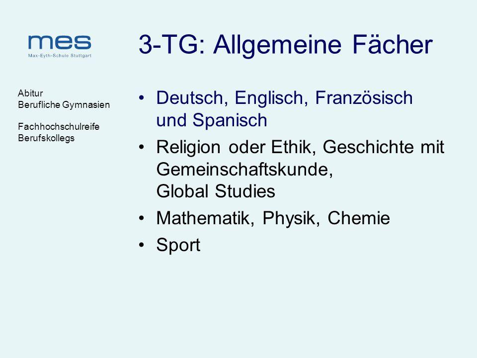 3-TG: Allgemeine Fächer
