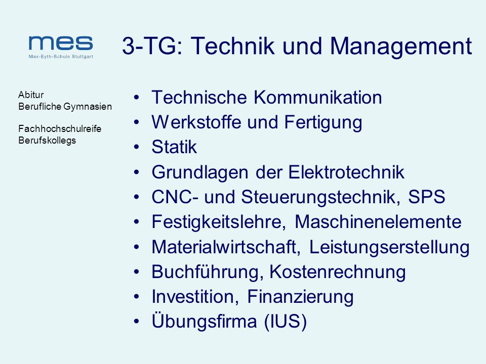 3-TG: Technik und Management
