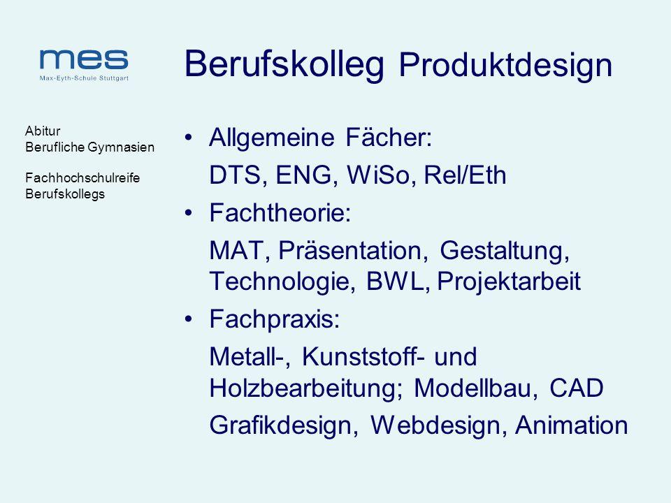 Berufskolleg Produktdesign