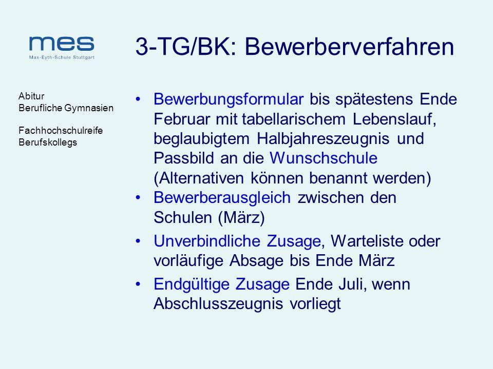 3-TG/BK: Bewerberverfahren